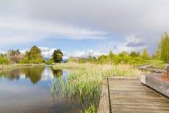 Percorso del lago Fotografia Stock