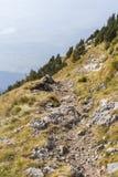 Percorso del terreno della montagna molto rocciosa immagini stock