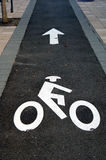 Percorso della bici Fotografia Stock Libera da Diritti