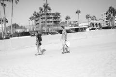 Percorso della bici della spiaggia di Venezia in California Fotografia Stock Libera da Diritti