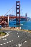 Percorso della bici di golden gate bridge Immagine Stock