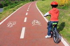Percorso della bicicletta Fotografie Stock Libere da Diritti