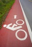 Percorso della bicicletta Fotografia Stock