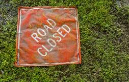 Percorso della clip del segno chiuso strada Fotografie Stock