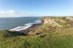 Percorso della costa di Galles del sud Immagine Stock