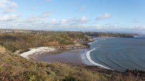 Percorso della costa di Galles del sud Immagini Stock