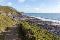 Percorso della costa di Galles del sud Immagini Stock Libere da Diritti