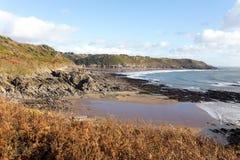 Percorso della costa di Galles del sud Fotografia Stock