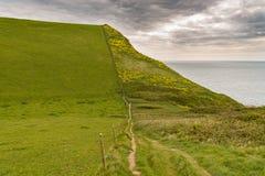 Percorso della costa ovest del sud vicino alla collina del ` s di Emmett, costa giurassica, Dorset Fotografia Stock Libera da Diritti