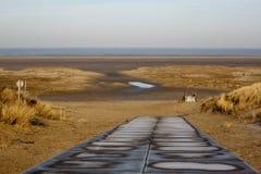 Percorso della duna Fotografia Stock Libera da Diritti