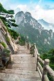 Percorso della montagna di Huangshan Fotografia Stock Libera da Diritti