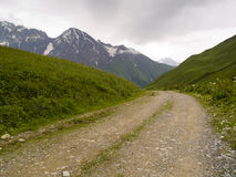 Percorso della montagna rocciosa Fotografia Stock Libera da Diritti
