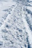 Percorso della neve Fotografie Stock