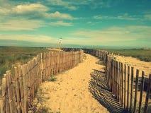 Percorso della spiaggia Fotografie Stock