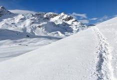 Percorso delle alpi di Rhaetian, il Piz Bernina, Svizzera Fotografia Stock