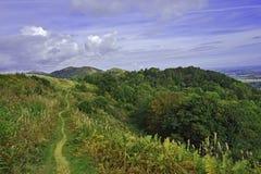 Percorso di bobina, colline di Malvern, estate inglese della campagna Fotografie Stock