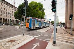 Percorso di Bycicle a Milano Fotografia Stock Libera da Diritti
