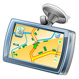 Percorso di GPS Fotografia Stock