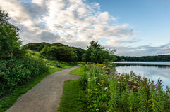 Percorso di Lakeside in Cumbria immagine stock