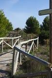 percorso di legno Immagini Stock Libere da Diritti