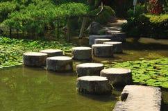 Percorso di pietra del giardino giapponese, Kyoto Giappone Immagine Stock