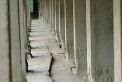 Percorso di pietra di Angkor Wat Fotografia Stock