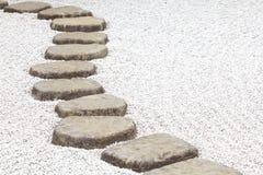 Percorso di pietra di zen Immagine Stock