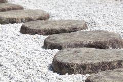 Percorso di pietra di zen Immagine Stock Libera da Diritti