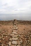 Percorso di pietra nel lago Ladoga Immagine Stock Libera da Diritti