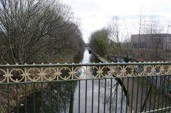 Percorso di rimorchio di Birmingham dal ponte immagini stock libere da diritti