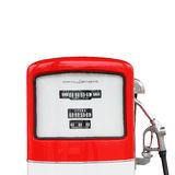 Percorso di ritaglio antico d'annata della pompa del carburante della benzina Immagine Stock