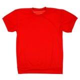 Percorso di ritaglio in bianco rosso della maglietta Fotografie Stock Libere da Diritti