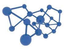 Percorso di ritaglio isolato molecola del fondo di scienza dentro Fotografia Stock