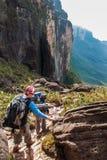 Percorso di trekking sul Roraima Tepui, Gran Sabana, Venezuela Immagini Stock Libere da Diritti
