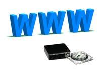 Percorso di WWW Fotografie Stock Libere da Diritti