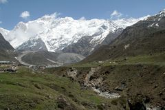 Percorso Himalayan della montagna Fotografia Stock