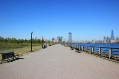 Percorso in Liberty State Park fotografia stock