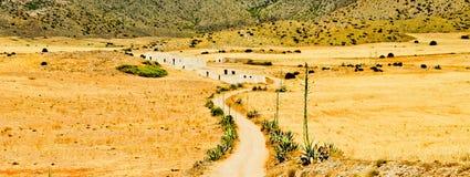 Percorso nel parco naturale di Cabo de Gata Fotografie Stock