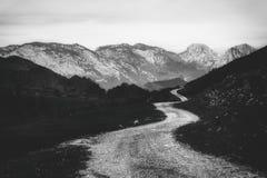 Percorso nella montagna Fotografia Stock Libera da Diritti