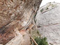 Percorso nelle montagne di Montserrat, Spagna Fotografia Stock