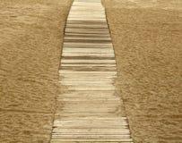Percorso sulla sabbia Immagine Stock