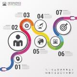 Percorso variopinto astratto di affari Modello infographic di cronologia Vettore illustrazione vettoriale