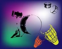 Percussão e cilindros ilustração stock