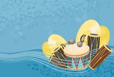 Percussion background Royalty Free Stock Images