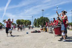 Percussion band in Lisbon, Portugal Royalty Free Stock Photo