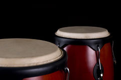 Percussion instrument. On a black background Royalty Free Stock Images