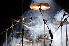 Percussion instruments on scene Stock Images