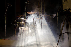 Percussion instruments on scene Stock Photo