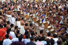 Percussion performannce in the Pooram Festival Royalty Free Stock Photography