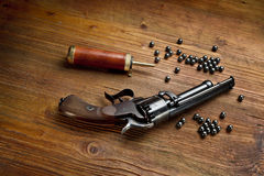 Percussion pistol revolver Royalty Free Stock Image